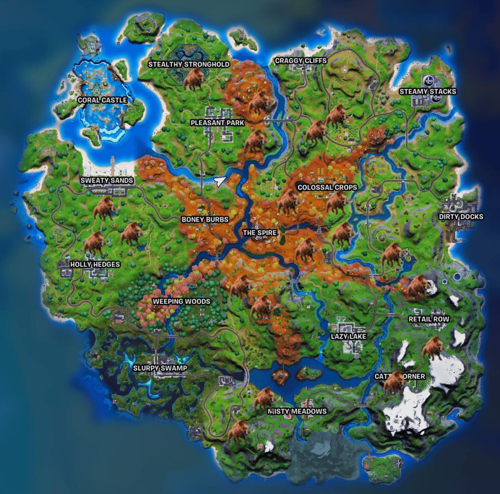 Fortnite Boar Locations season 6