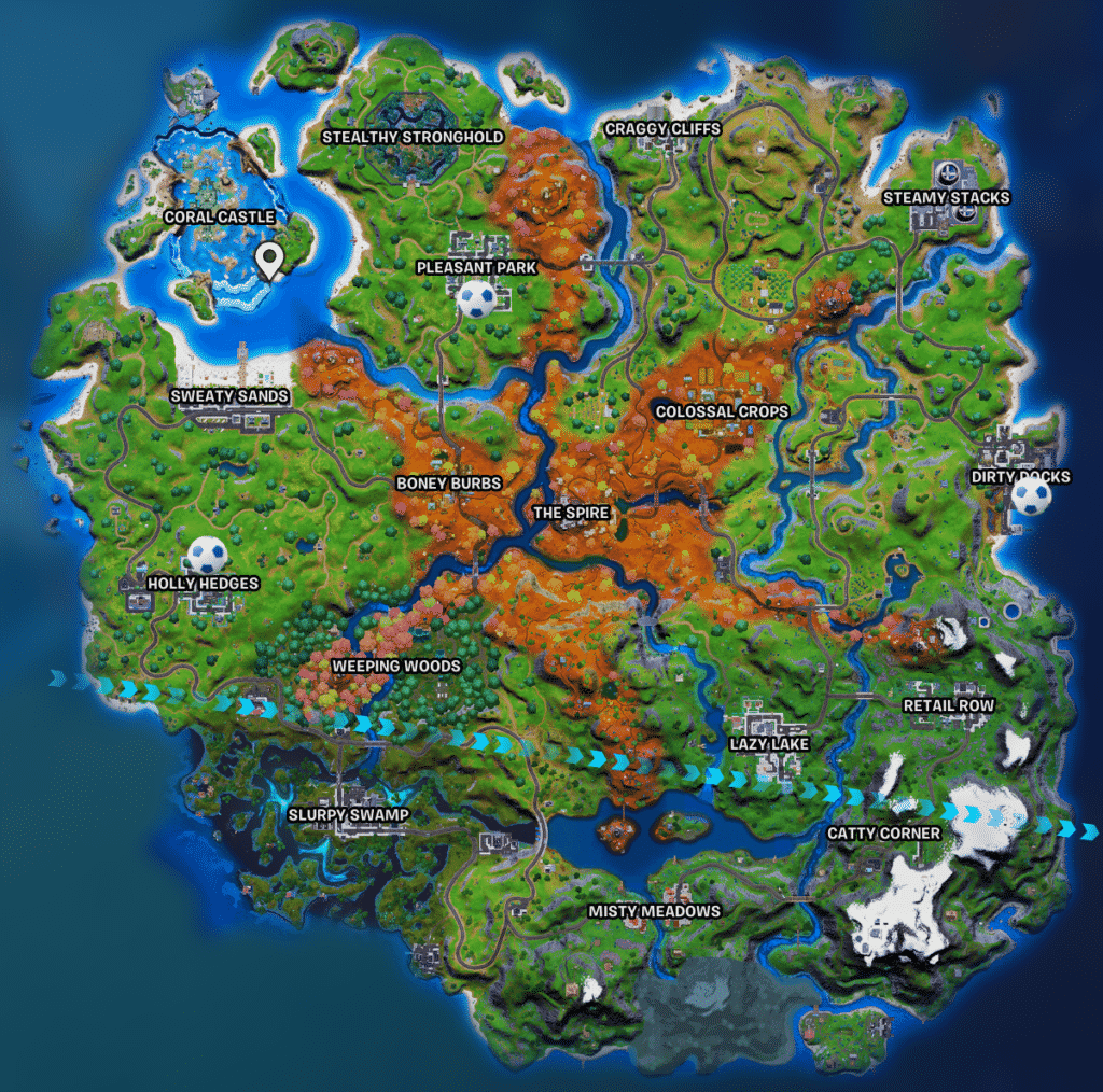 Fortnite soccer players locations chapter 2 season 6