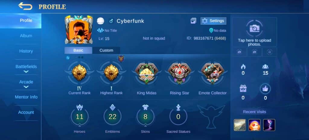 Mobile Legends Profile Game ID