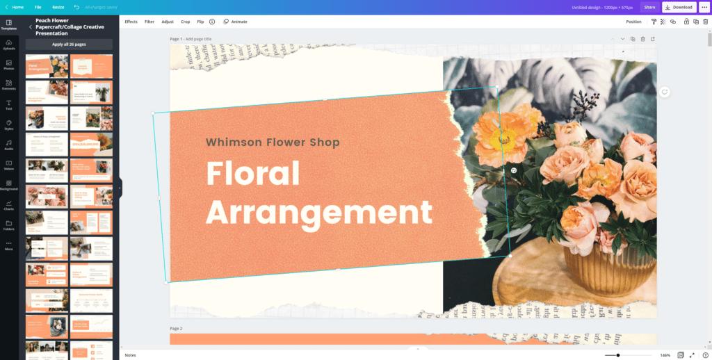 canva design customization tools page