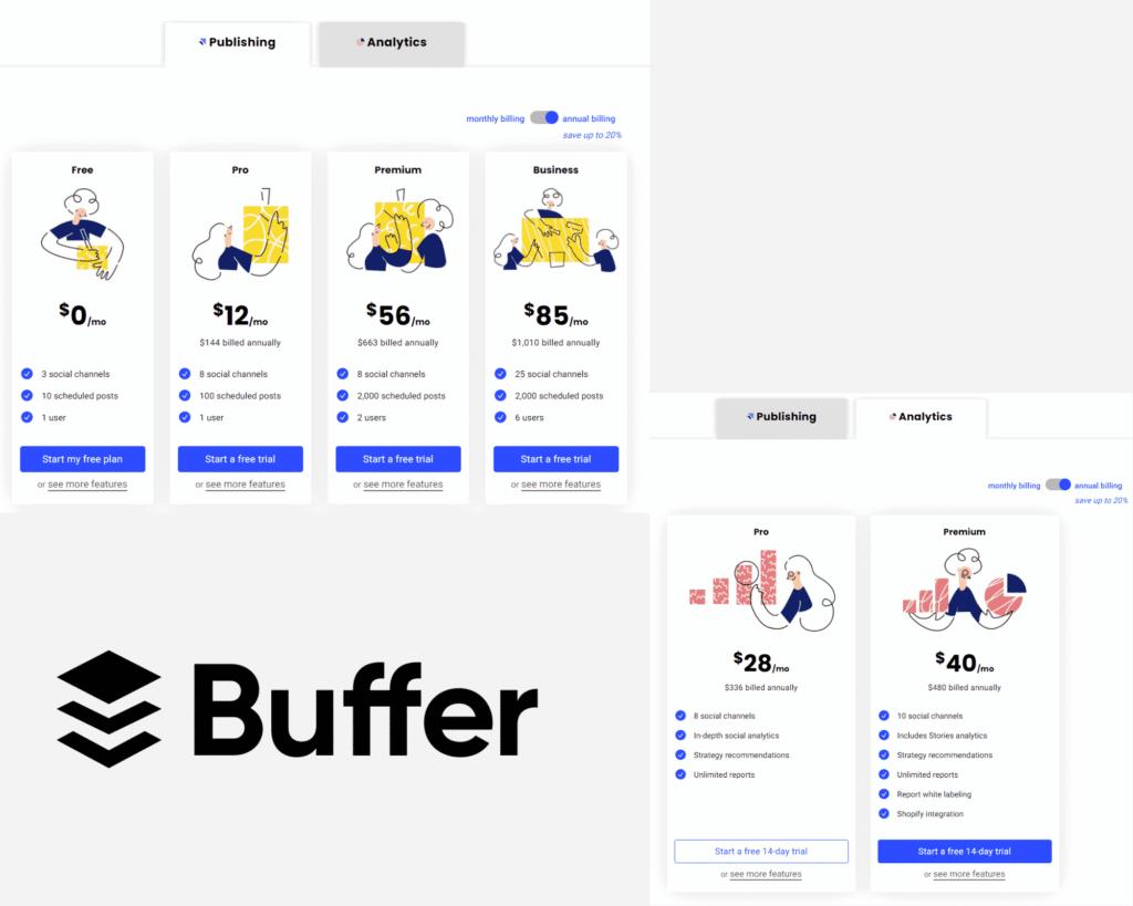 buffer plans & pricing