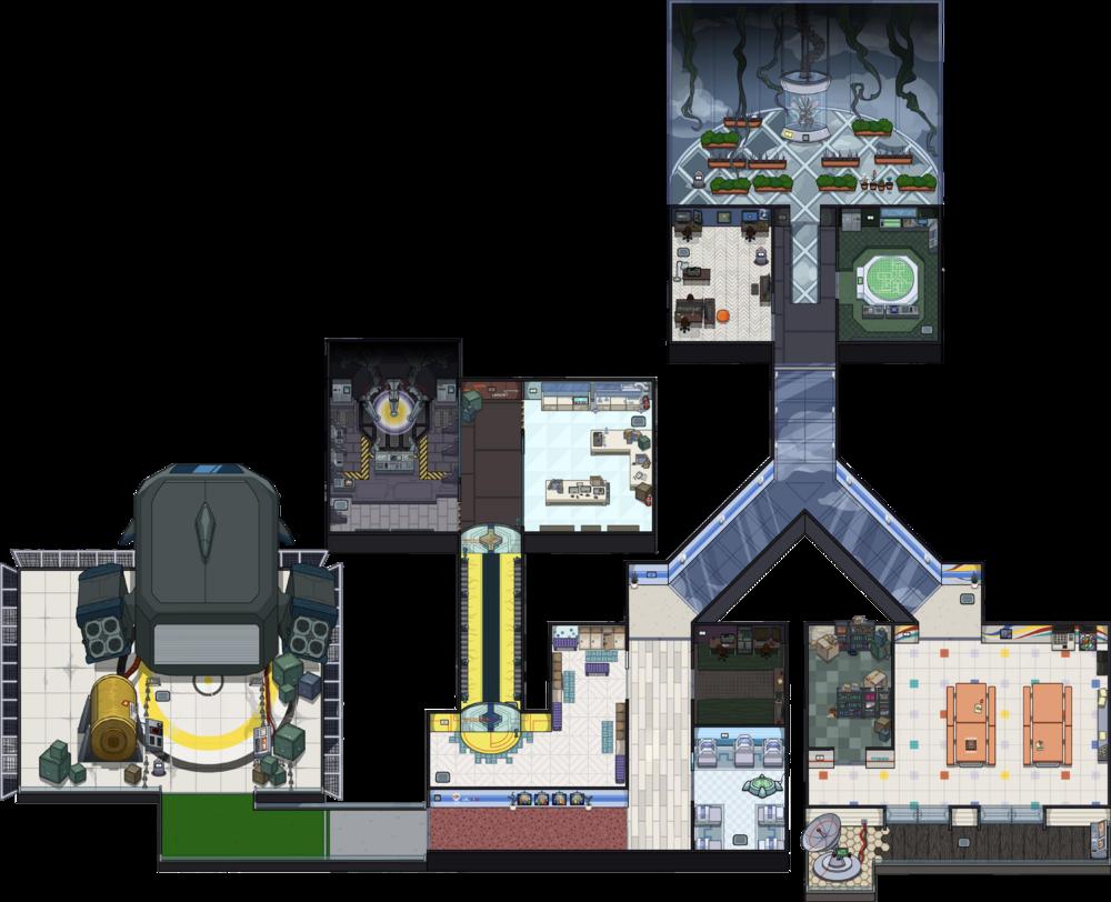 Among Us Mira HQ map