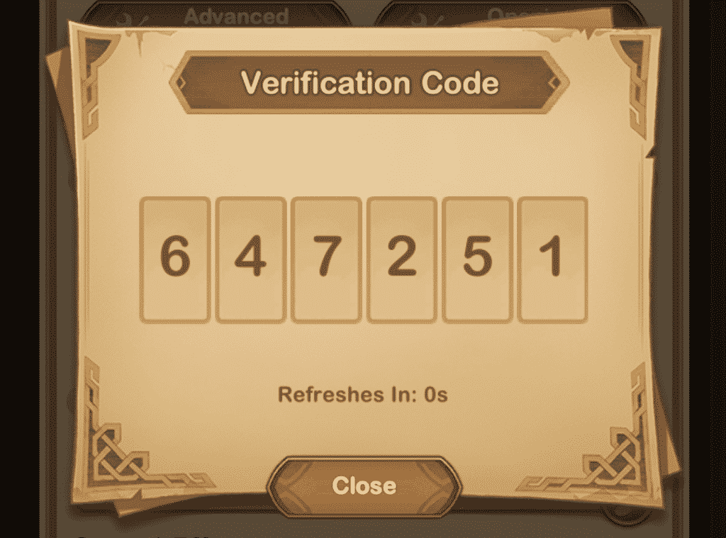 AFK Arena verification code service in use