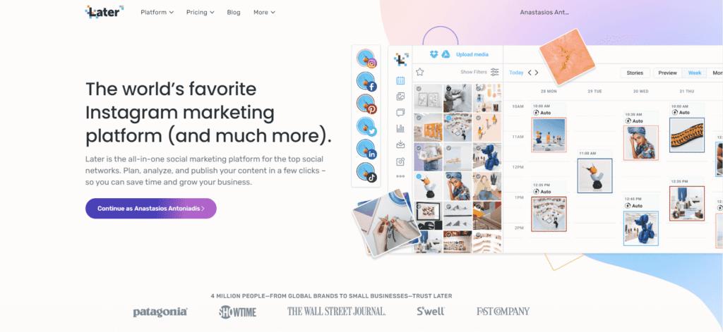 later instagram marketing platform