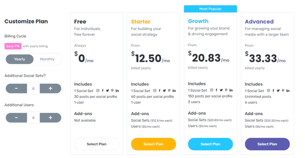 later pricing plans