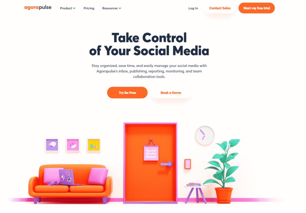 agorapulse social media marketing platform