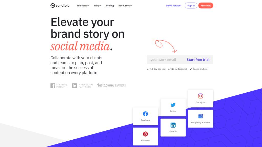 sendible social media brand management