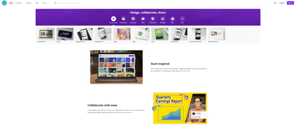 canva graphic design platform