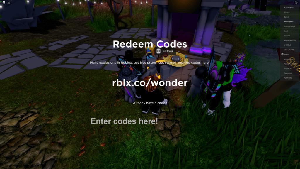 How to redeem Mansion of Wonder codes