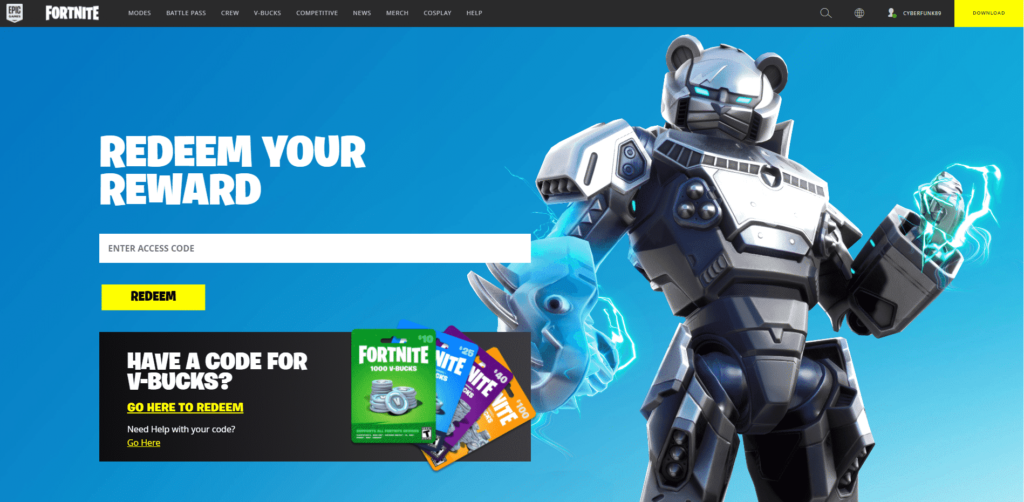 How to redeem Fortnite Access codes