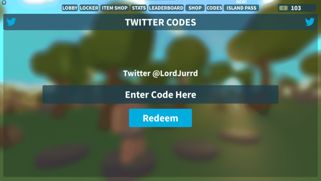 how to redeem island royale codes roblox