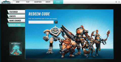 how to redeem paladins codes