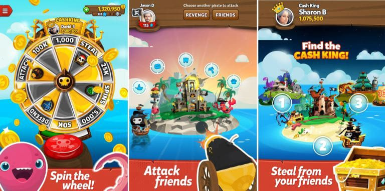 pirate kings attack steal spin the wheel