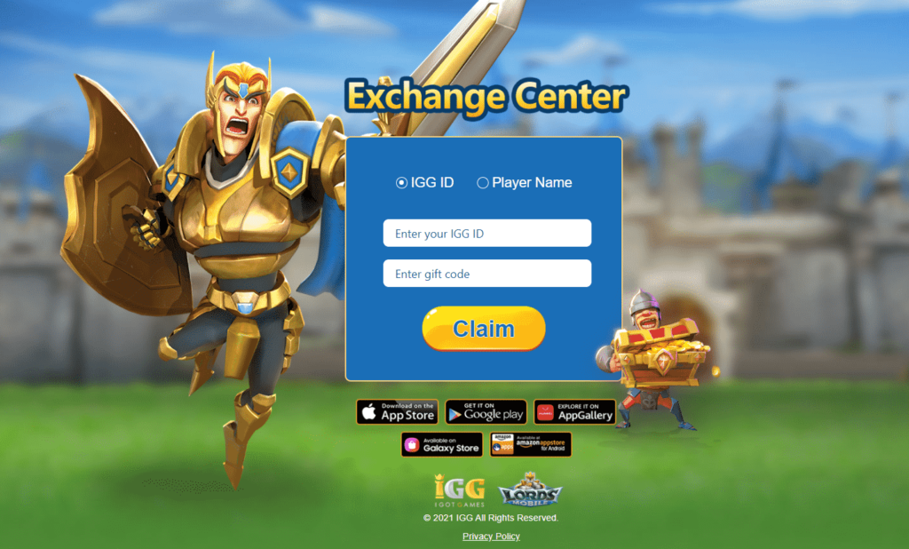 how to redeem lords mobile codes