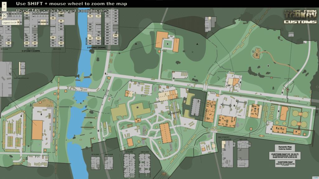 Scav Spawn locations and scav sniper locations