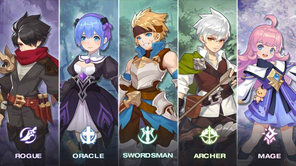 Guardians of Cloudia classes oracle rogue swordsman archer mage