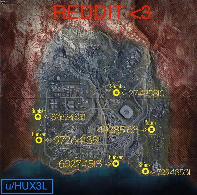B7 Bunker Code call of duty warzone