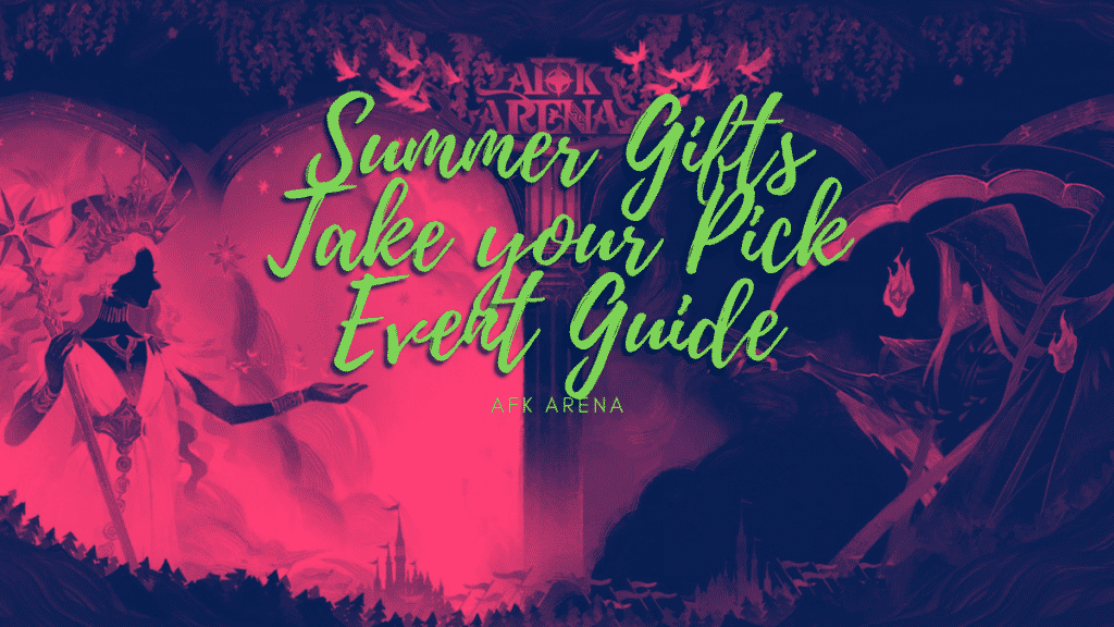 Summer Gifts Take your Pick event guide