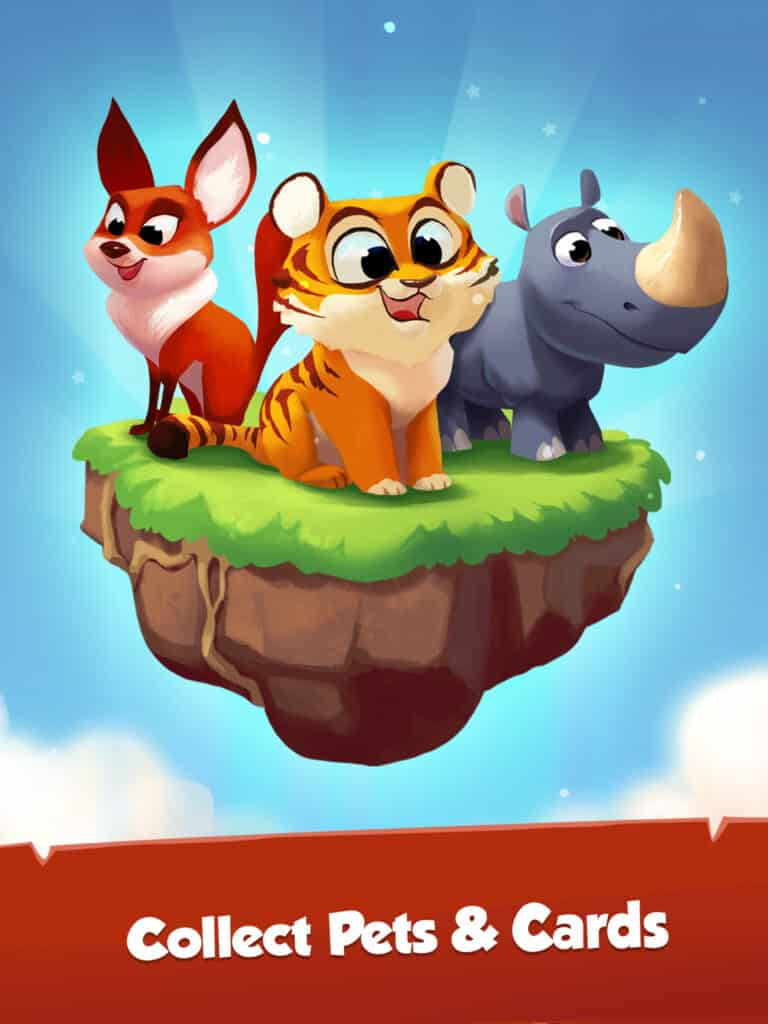 Coin Master Pets and abilities Foxy, Rhino, Tiger