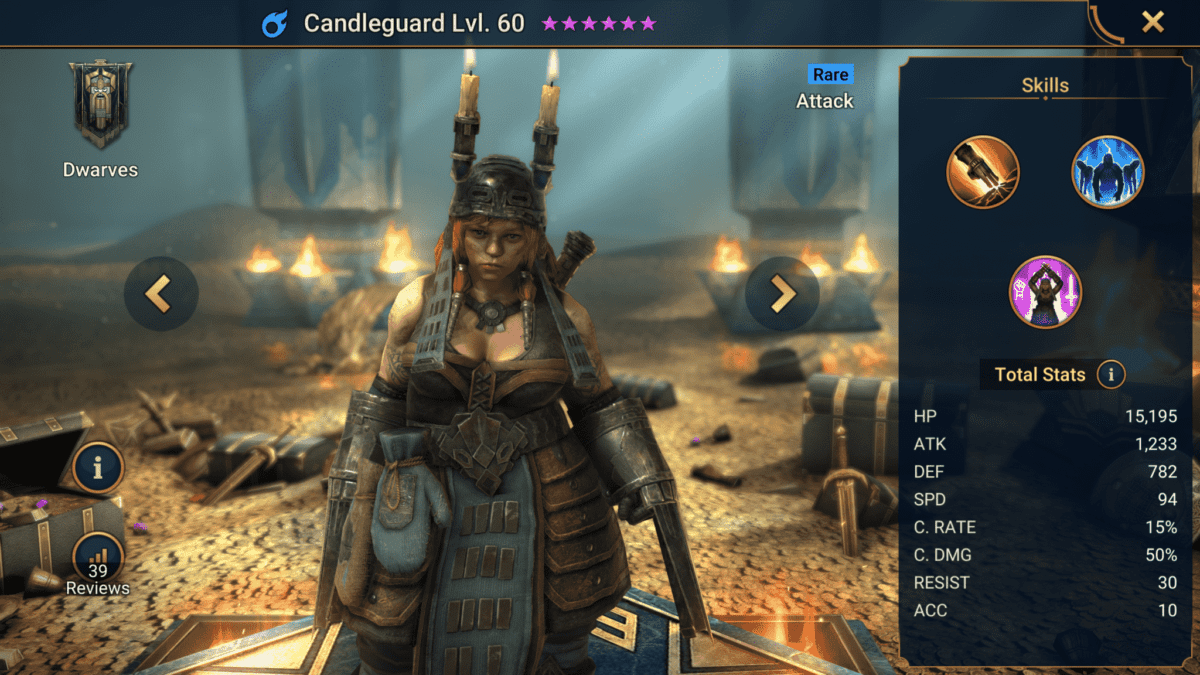Candleguard champion guide raid shadow legends